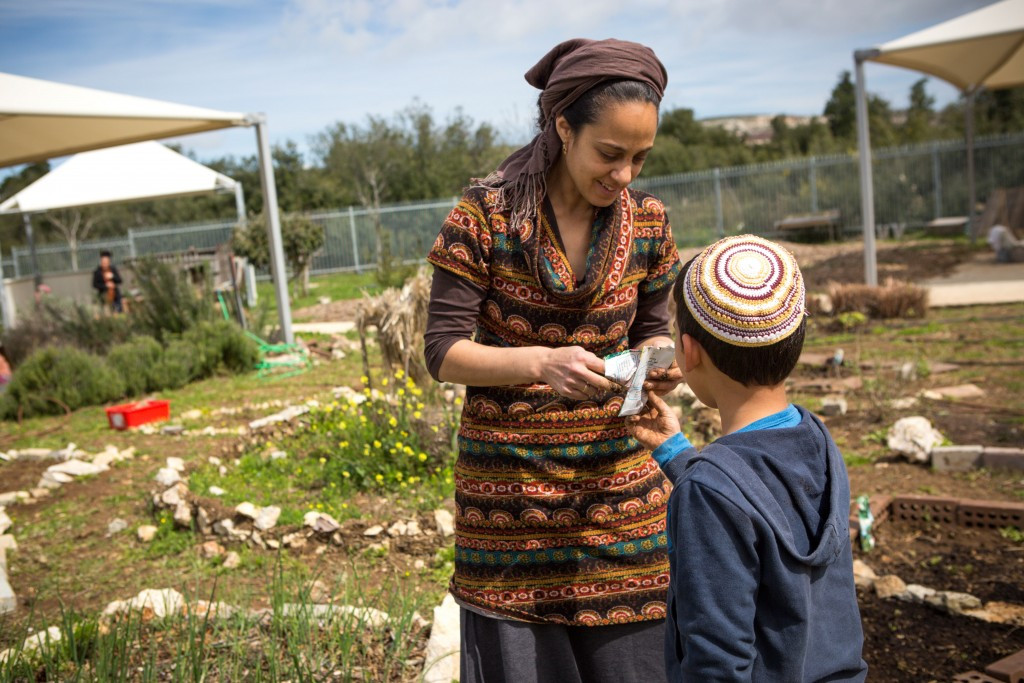 Photo of Planting seeds at the Early Childhood Centre in Merom HaGalil.