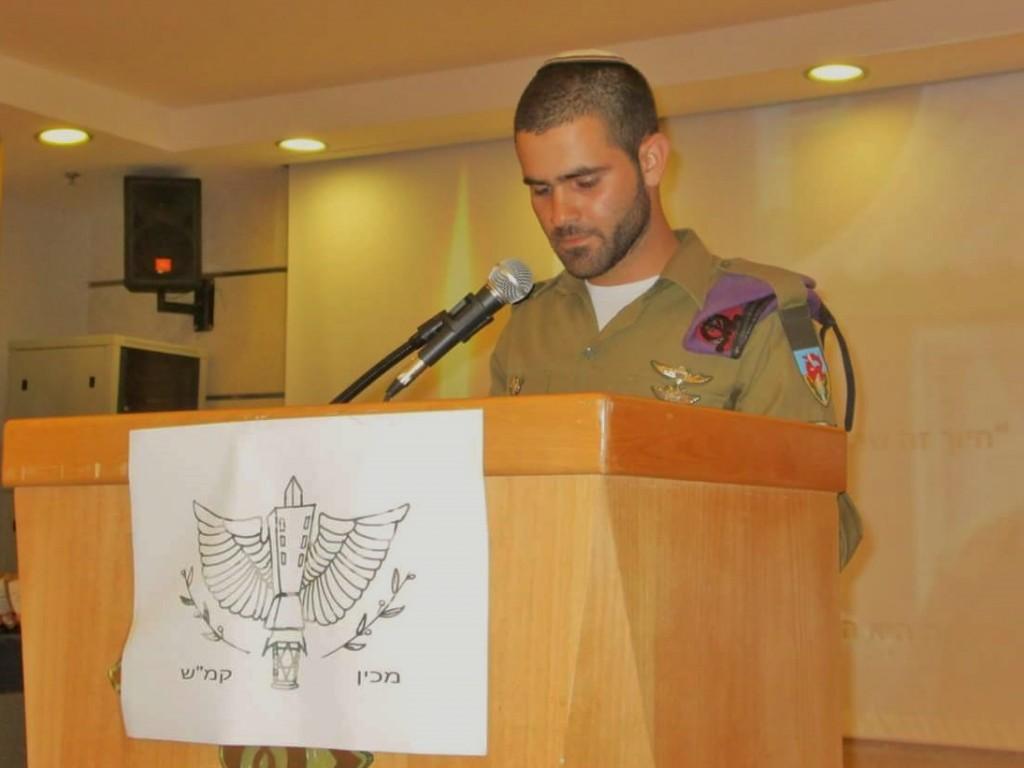 Givati role model for Kav L'Noar youth- Bezalel Wieberman