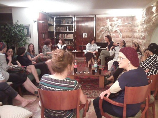 Women Changing Jerusalem group meeting in Kiryat Yovel
