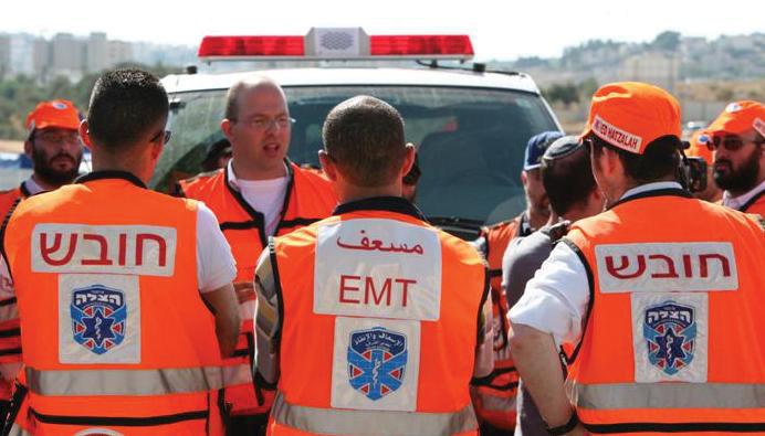United Hatzalah volunteer medics.