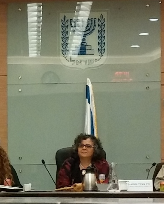 Member of Parliament Aida Touma-Suleiman, an Arab Israeli, chairs Israel's Parliamentary Committee on the Status of Women and Gender Equality {public domain}
