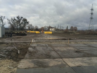 Construction site in Anatevka, where new houses were being built to help more Jewish refugees who were expected to arrive, December 2015