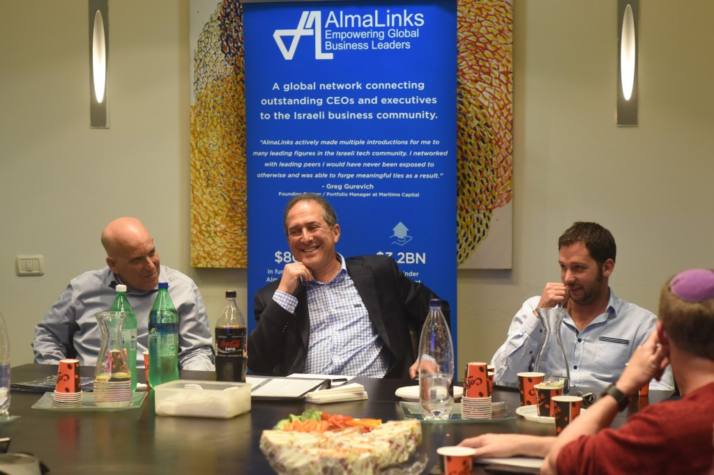 Ron Klein speaking to AlmaLinks Tel Aviv