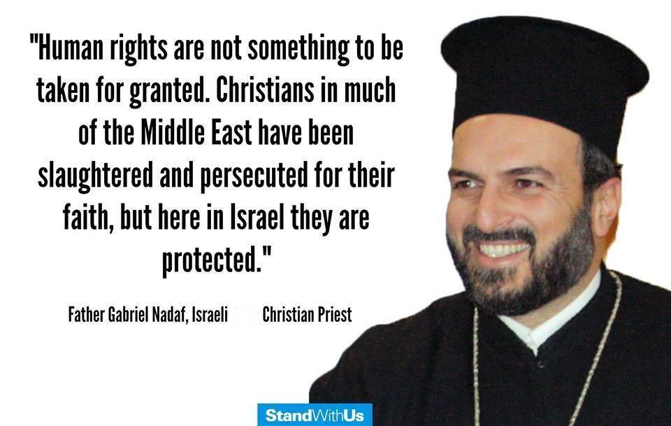 Christians are slaughtered in much of the Middle East, but protected in Israel