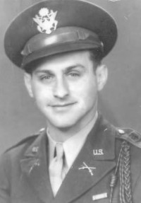 Reuben Soldinger, a captain with the 8th Infantry division, commanded 50 men during World War II (1942 or 1943).