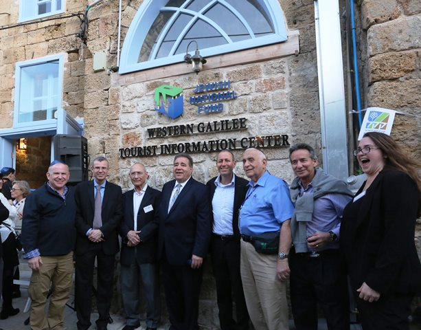 JNF's Russell F. Robinson at the ribbon cutting ceremony for the new Western Galilee Tourist Information Center in Akko.