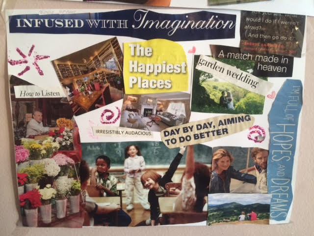 Example of a vision board I created