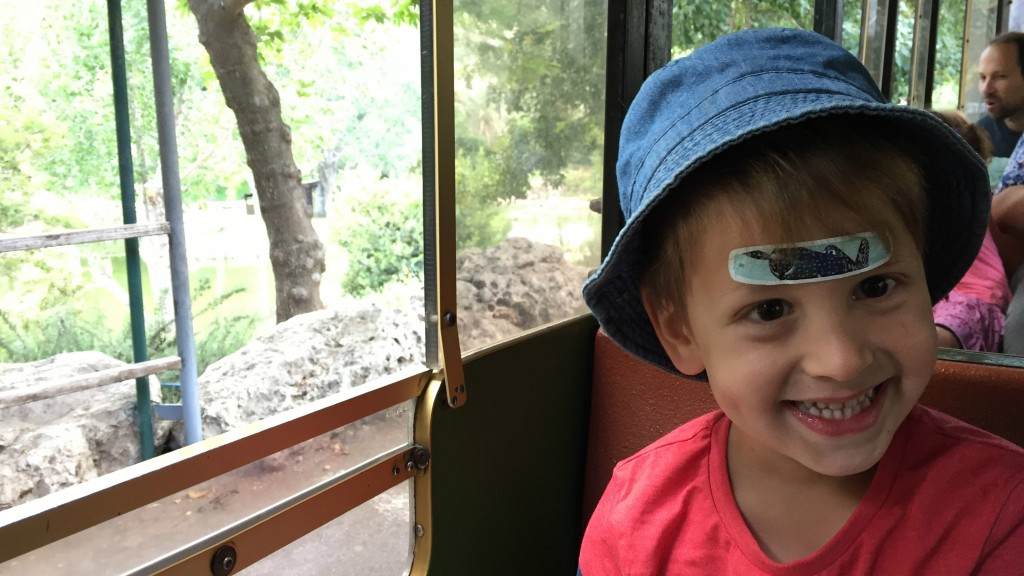 Elad, 3.5, with his trademark bandaid in the middle of his forehead. (courtesy)