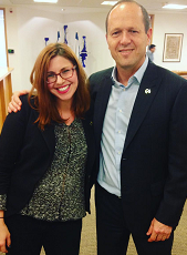 Molly with Jerusalem Mayor Nir Barkat