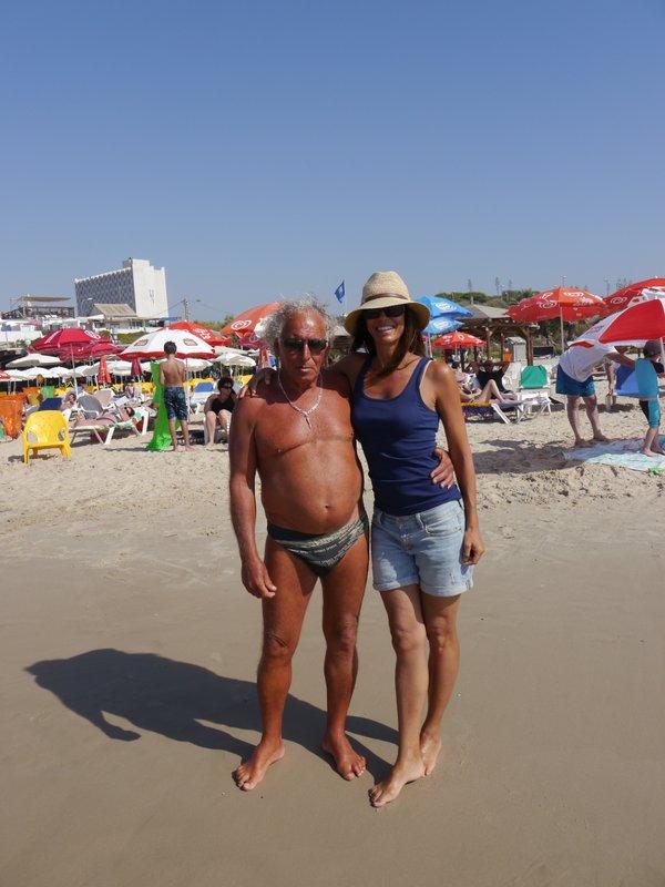 A friendly Israeli lifeguard