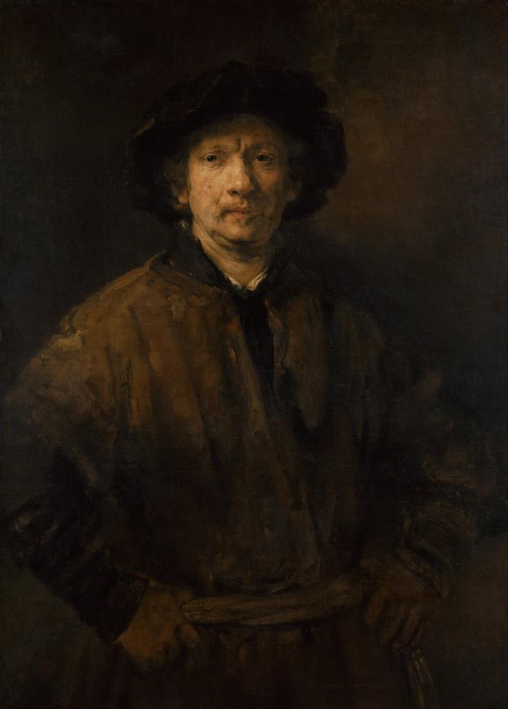 Large Self-Portrait, Rembrandt
