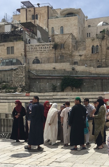 Muslim Visitors to the Kotel - (Photo Credit – Y. Rosenberg)