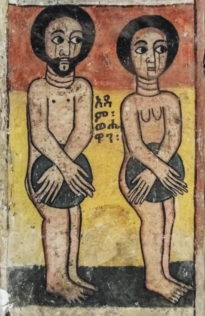adam and eve, black
