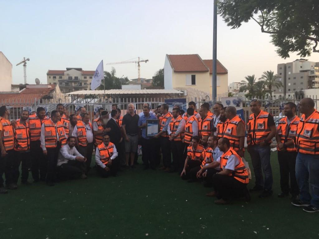 Some of the 50 new volunteer EMTs for United Hatzalah in sderot