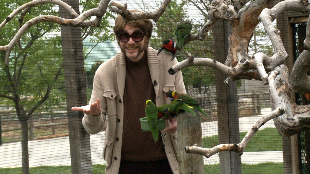 Randall with some feathered friends. (Photo courtesy of Randall)