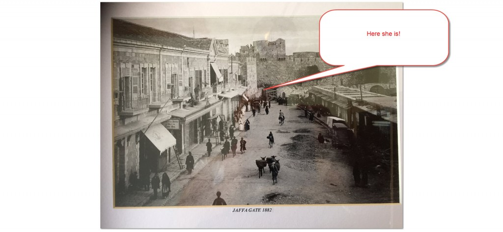 Jaffa Gate, Exterior, 1882, a lowly wall indeed