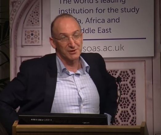 "Vice Chair of the Inquiry Prof David Feldman, shared a platform with Shlomo Sand, author of a ""The Invention of the Jewish People"", which claims that modern Jews descend from Khazars, a Turkic population. Prof. Feldman thanked Sand for writing the book. {Youtube screenshot}"