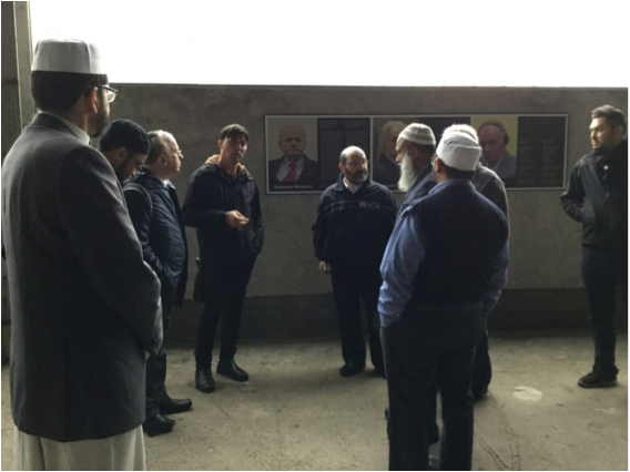 Rabbis and Imams together in Bosnia learning about the genocide