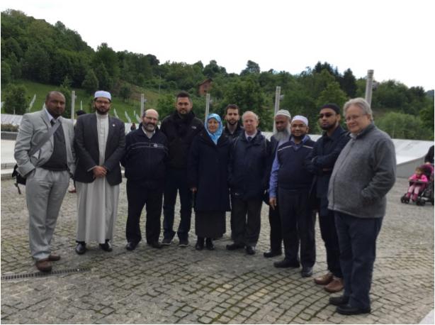 Meeting a representative of Mothers of Srebrenica