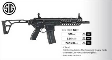 Sig Sauer MCX from brochure