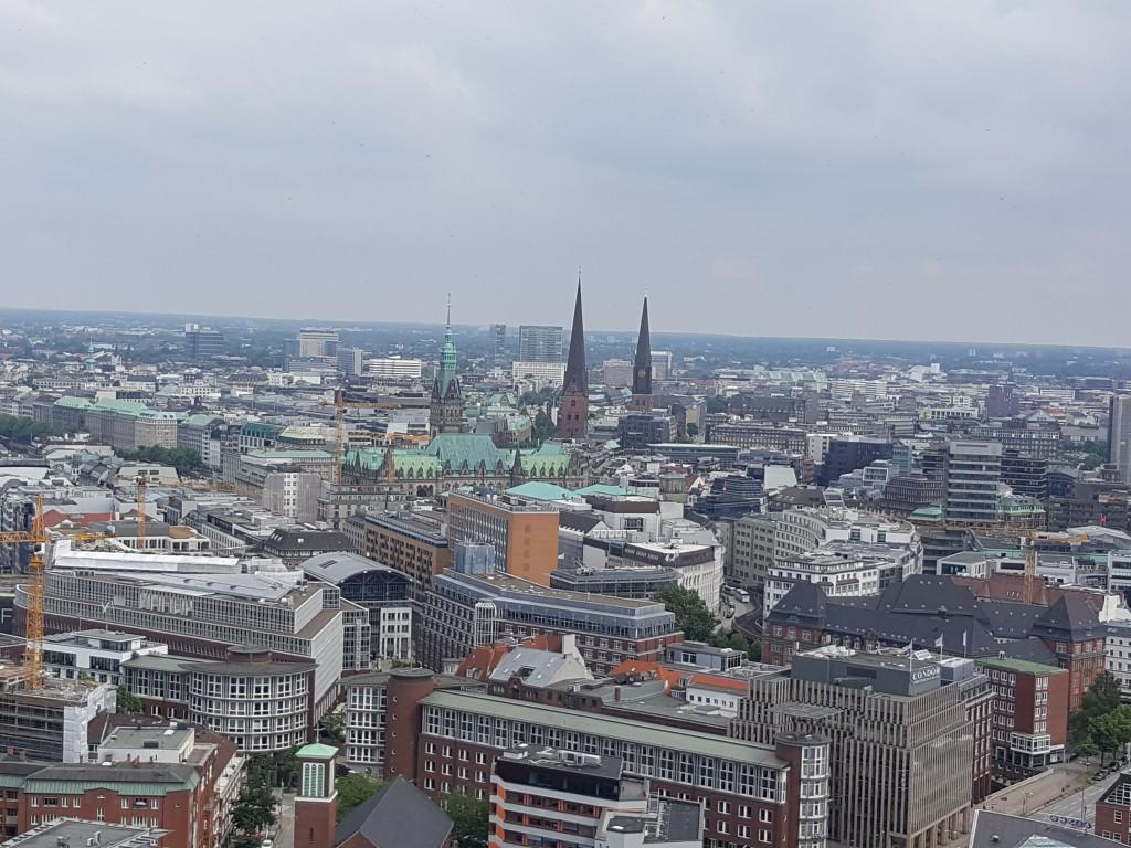 Bird's Eye View of Hamburg