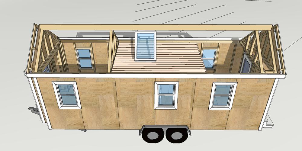 Design of Tiny House, model 24, Little River 4, Image Courtney of Michael Janzen, Tiny House Design, 2016.