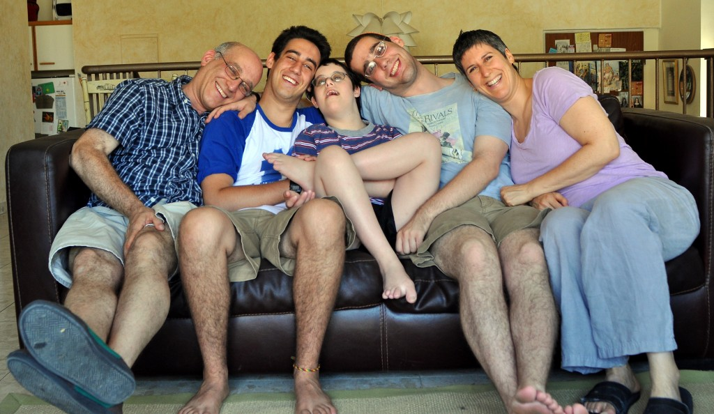 Ira, Gabe, Akiva, Natan and me, 2010, the year of Akiva's Bar Mitzvah.
