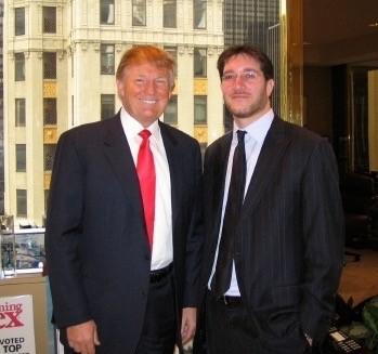 Eli Verschleiser with Donald Trump 2005