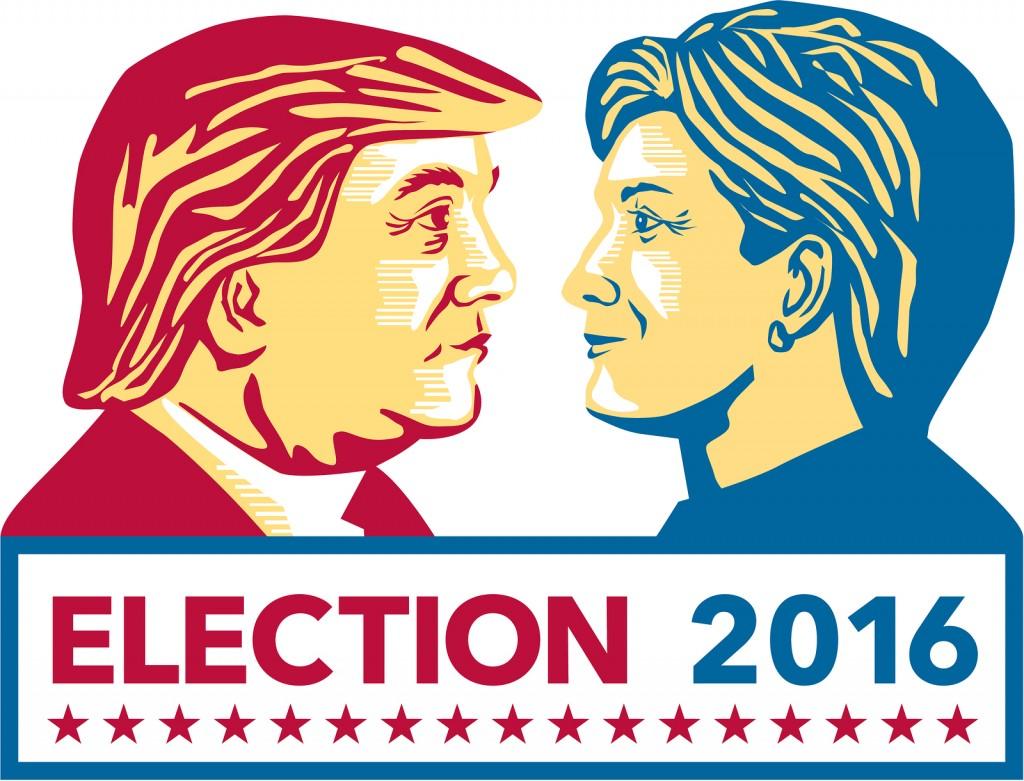 Illustration of Trump Vs Clinton