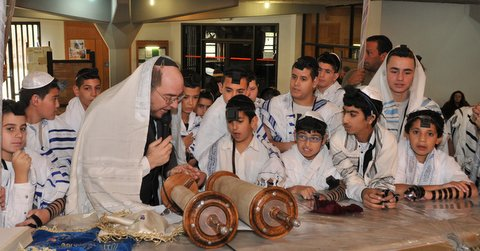 The Bar and Bat Mitzvah celebration has 54 celebrants this year. Photo courtesy IYIM Israel