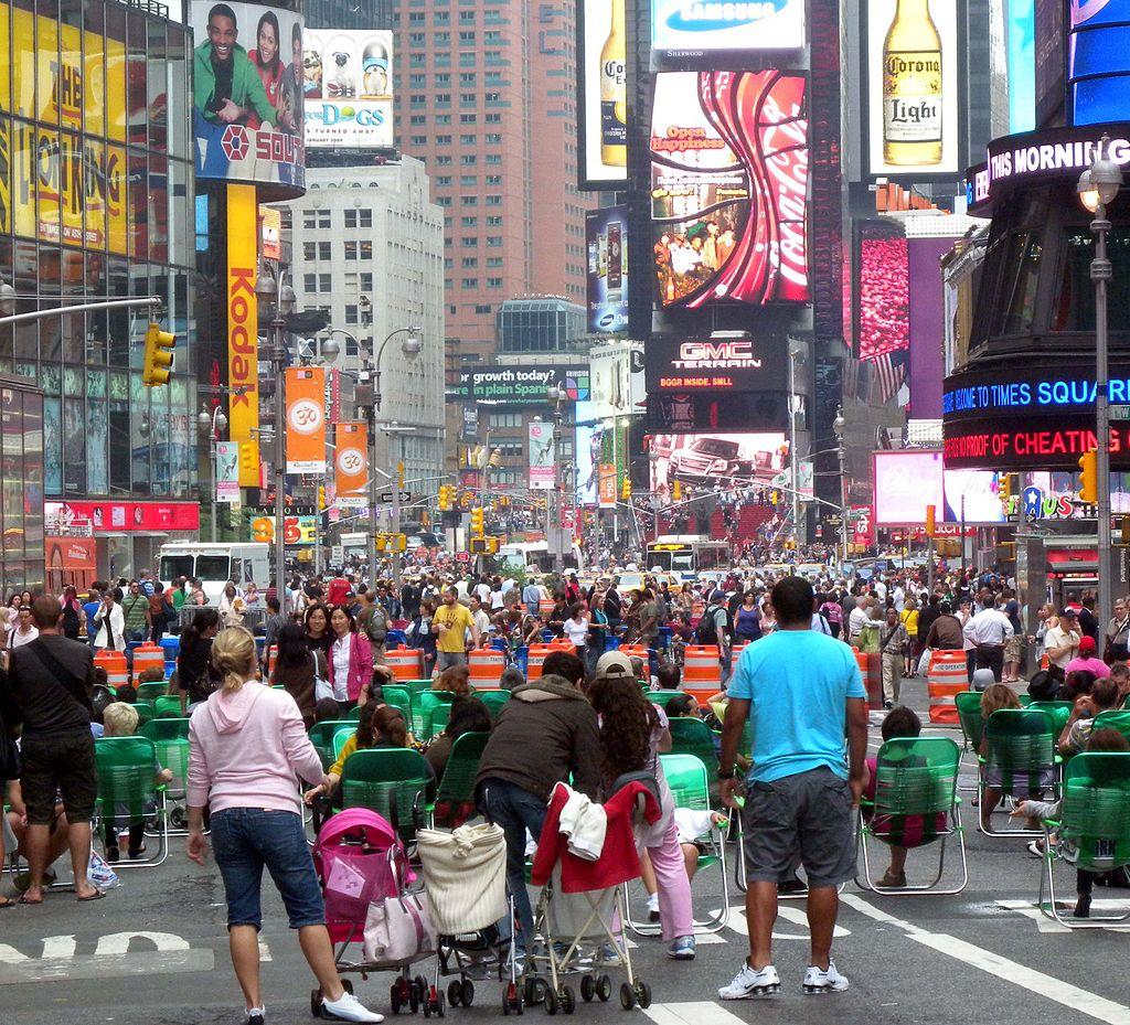 times square pedestrian plaza -- Jim Henderson, Wikipedia