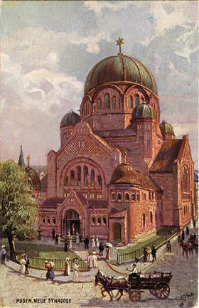 Great Synagogue, Poznań, Poland, early 20th century. Tomasz Wisniewski, szukamypolski.com, via yivoencyclopedia.org