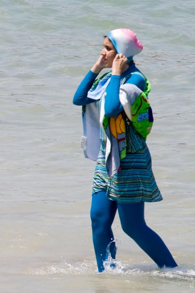 Even some burqa-inspired garb looks trendy when Italians design it!