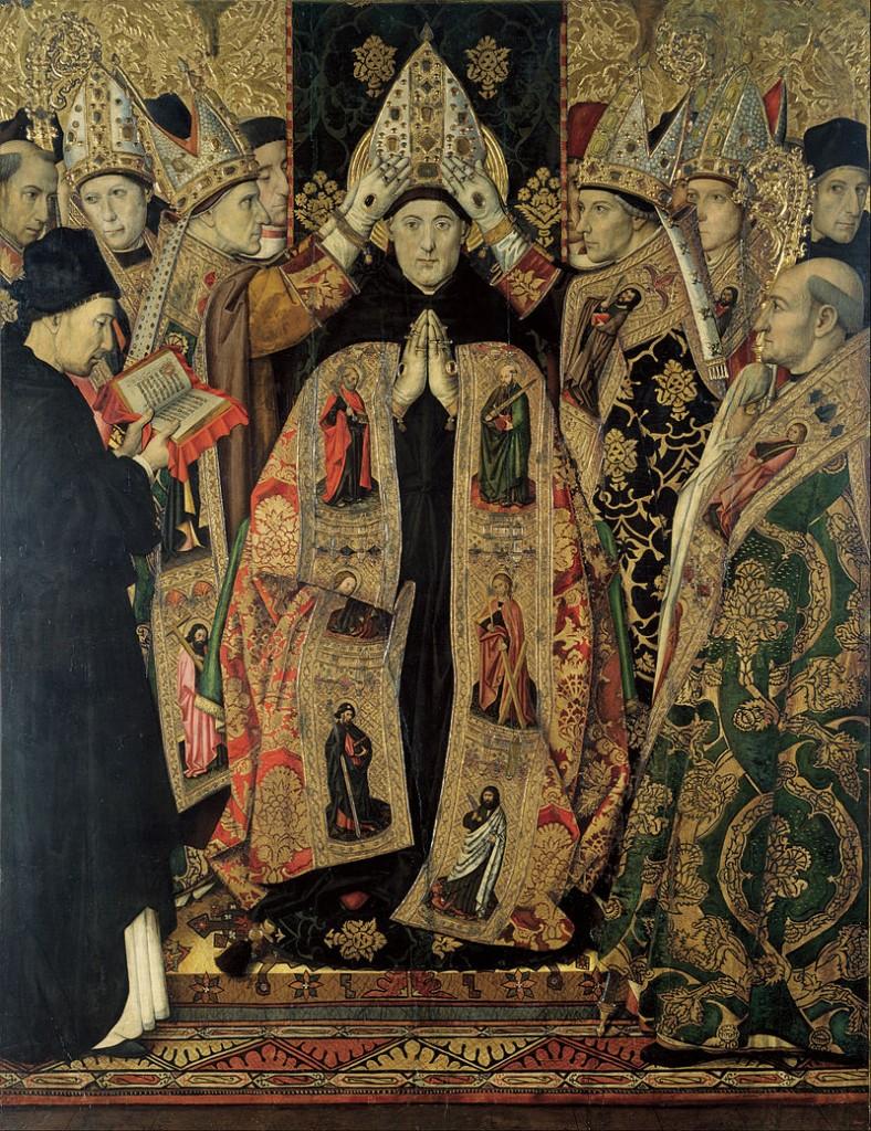 The Consecration of Saint Augustine by Jaume Huguet (public domain)