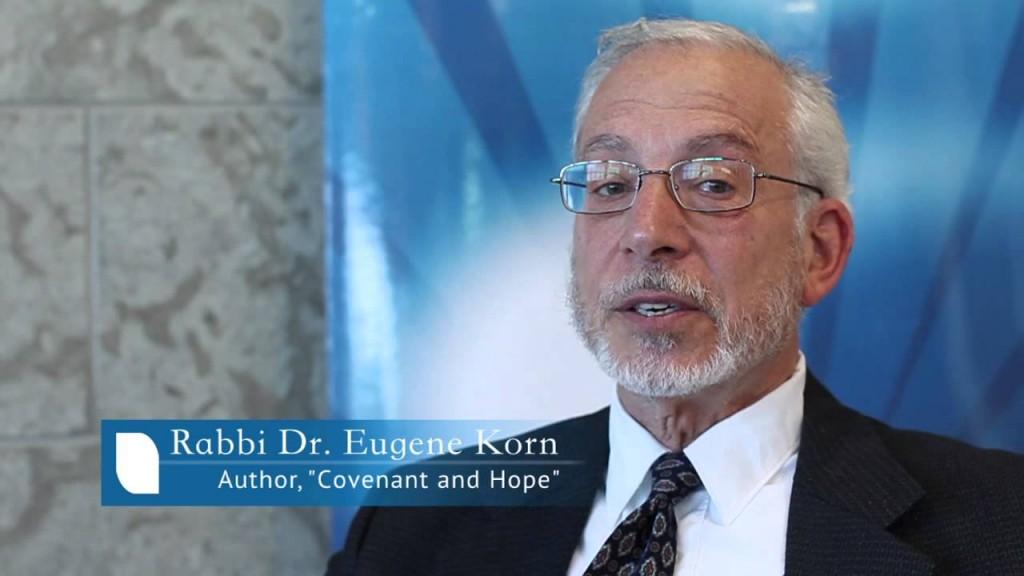Rabbi Dr, Eugene Korn (photo credit: Youtube/screenshot)