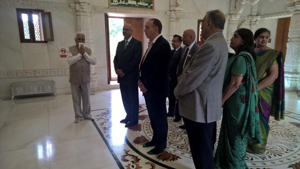 Lord Bourne at the Jain Deresar.