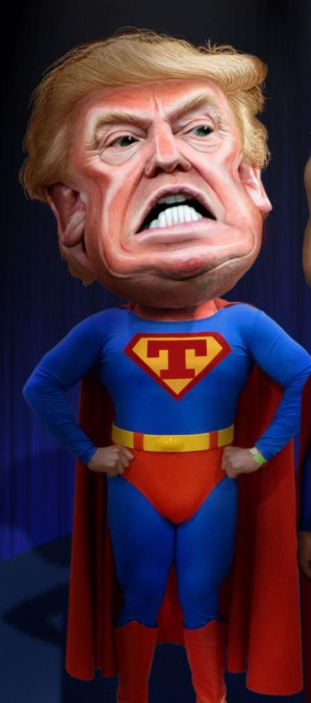 Donald Trump as superhero (Wikimedia Commons)