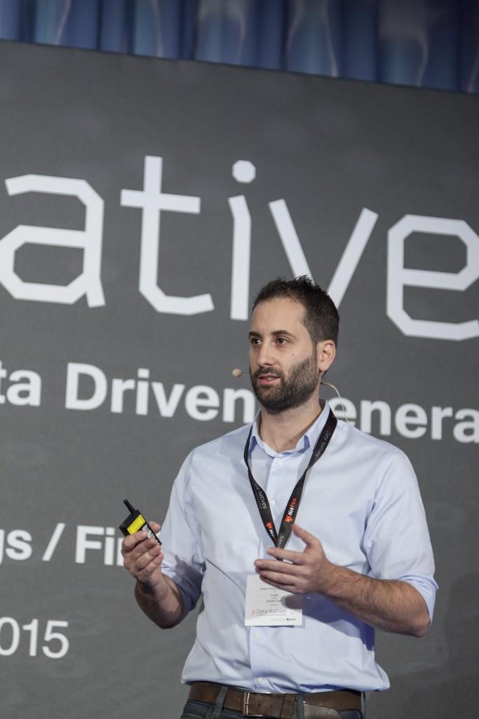 Yuval Dvir speaking at Data Natives 2015