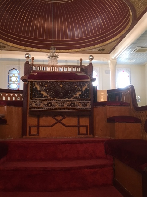 Achrida Synagogue bimah and dome interior. Photo by Pamela Frydman