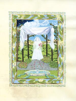 "Lekha Dodi, ""Come My Beloved,"" Introductory Painting, Debra Band"