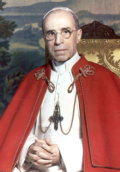 Pope Pius XII (photo credit: The Vatican/ Public domain, via Wikimedia Commons)