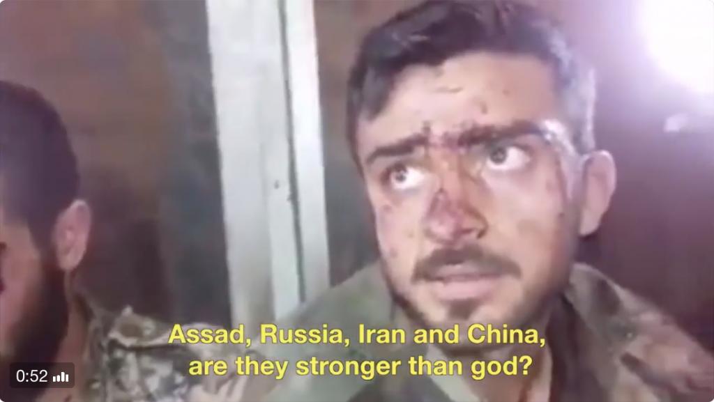 White Helmets embedded with Al Nusra taunts soldier