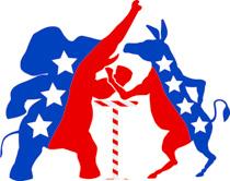 Democratic Republican Parties Arm Wrestling