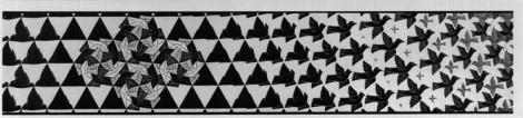 Metamorphosis,iii-excerpt-6,1968 M. C. Escher