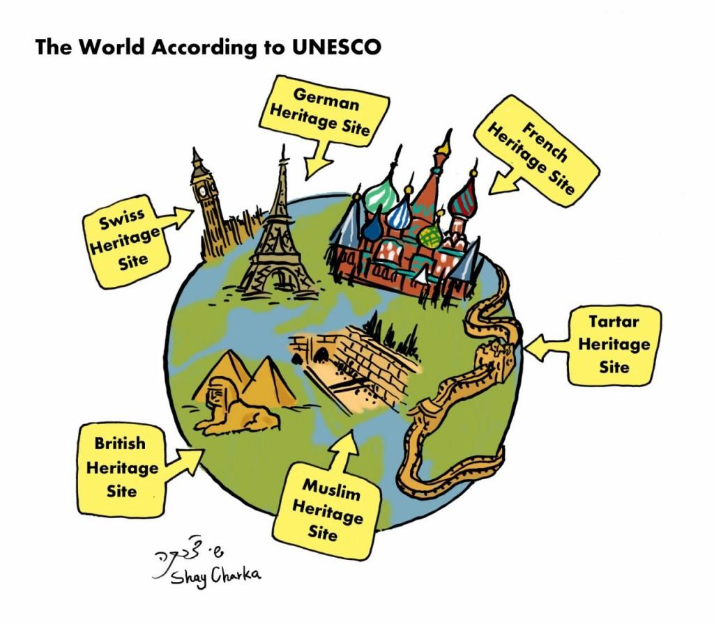 Good morning UNESCO, feeling dizzy? Cartoon from TICP by Shay Charka