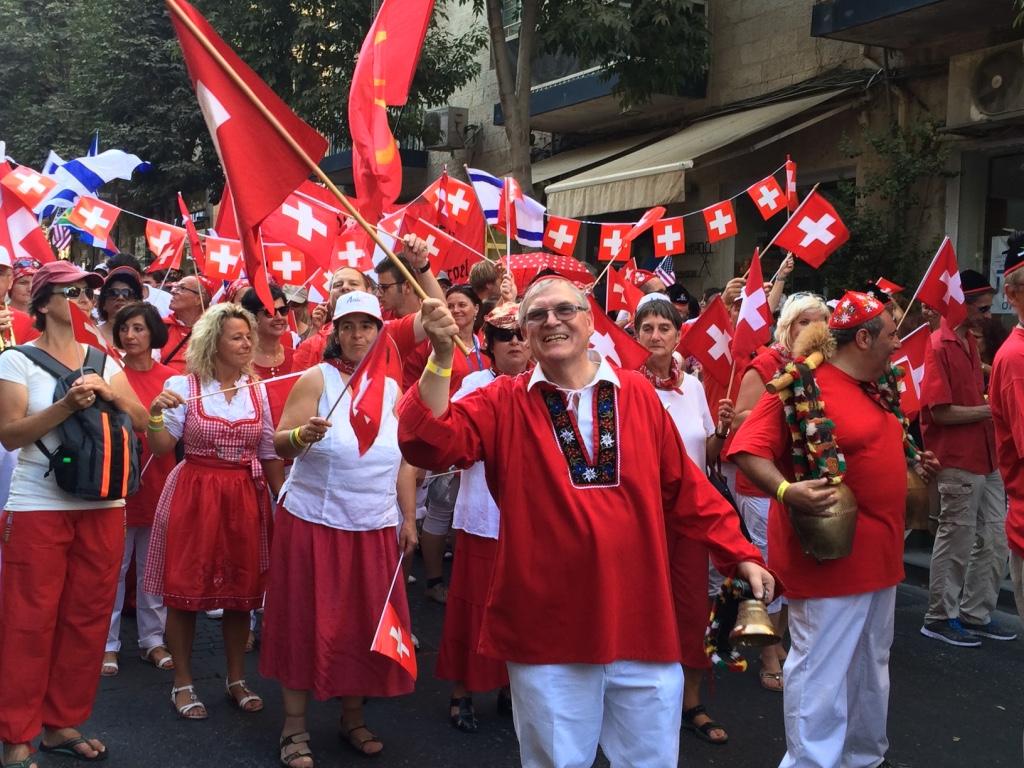Sukkot pilgrims from Switzerland