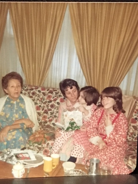Nana, my mother, sister, and me, in Chicago, 1973