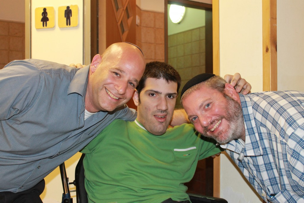 Jason Gardner, Tal. and Dov Hirth at ALEH Jerusalem