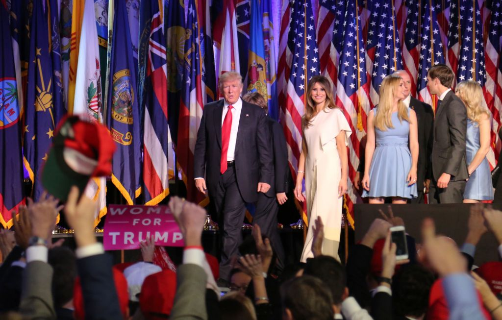 Donald Trump and Family. (Eric Cortellessa/Times of Israel)