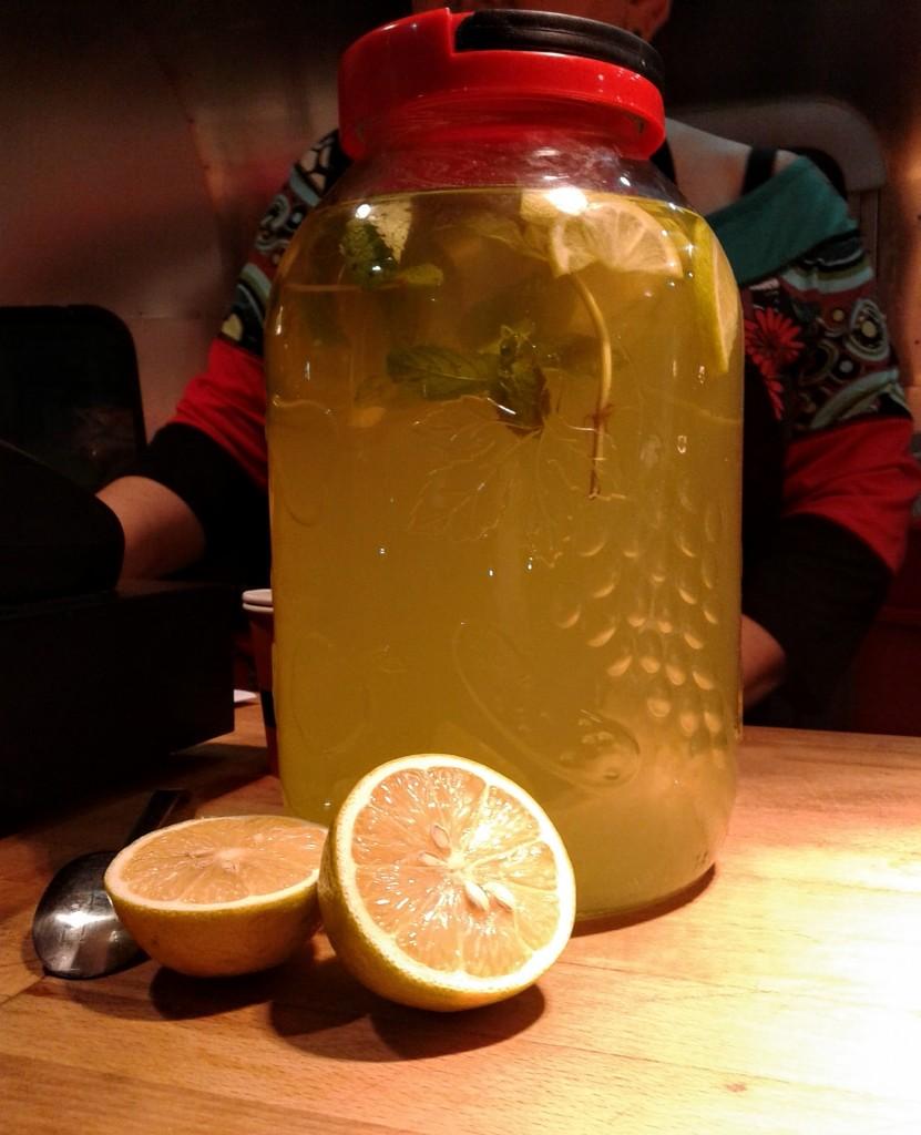 "Homemade mint-lemonade from the ""Suidan Naama"" food truck"